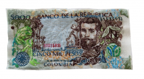 5000 Colombian Pesos by Lauren DiCioccio