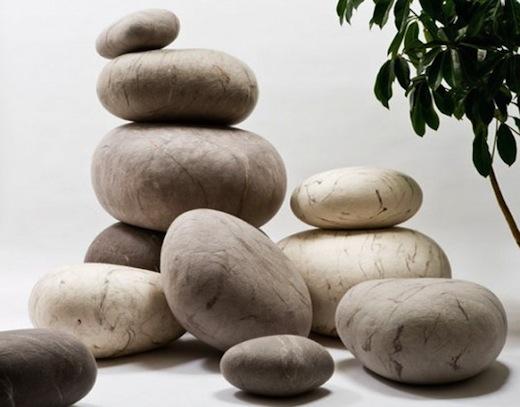 Ronel Jordaan's Wool Rock Pillows