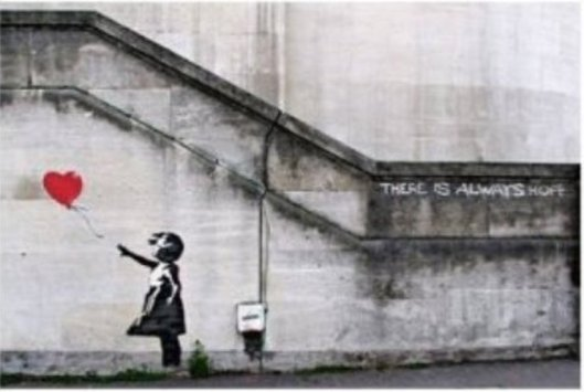 Banksy's 'There's Always Hope'