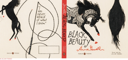 Penguin Threads Black Beauty Book Jacket Designed by Jillian Tamaki