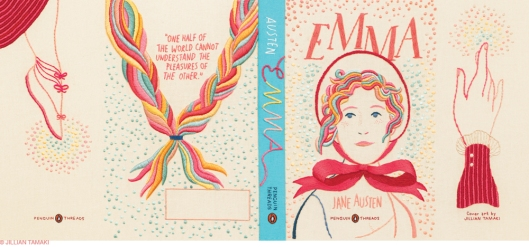 Penguin Threads Emma Book Jacket Designed by Jillian Tamaki