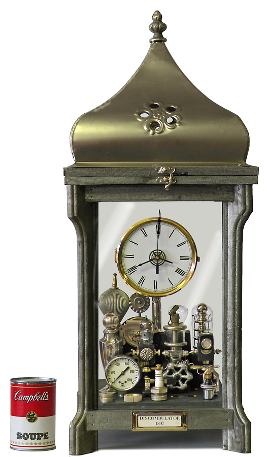 Clock in Glass Box by Klcokwerks