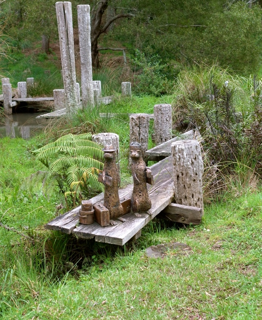 'Awaiting Transportation' by Lucy Bucknall (Brick Bay Sculpture Trail)