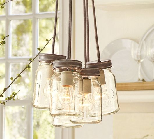 Pottery Barn 5-Jar Pendant