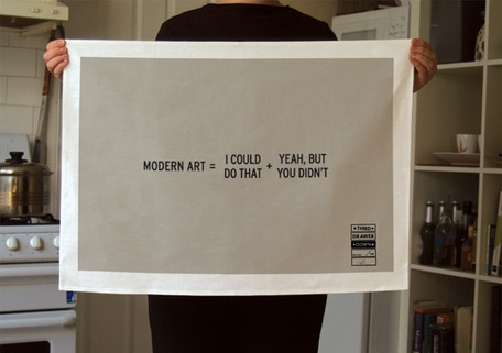 Modern Art Tea Towel by Craig Damraer