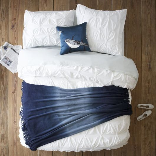 West Elm Layered Bed Look - Cool Blue