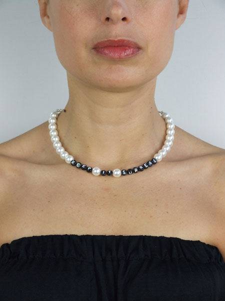 'Keep it Surreal' Pearl Necklace by A'N'D
