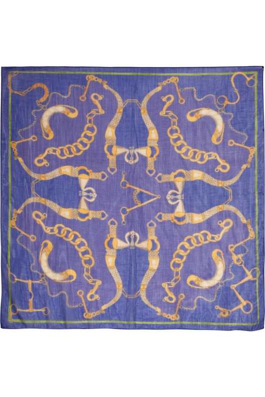 Heliotrope Snaffle wool, cashmere and silk-blend scarf by Swash