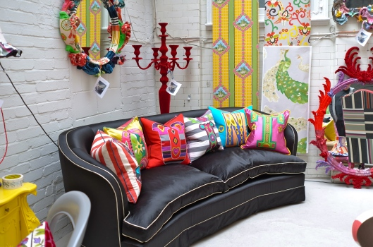 Squint Limited - The Curved Sofa & Alphabet Cushions