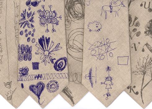 Doodle Ties from Rachel Howard Ties Collection