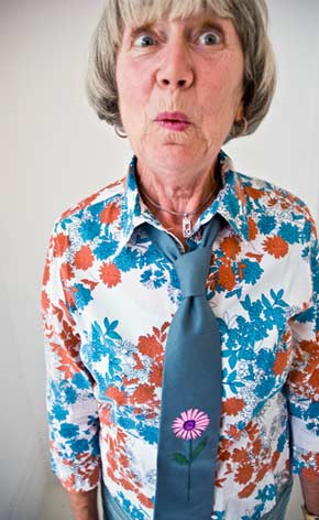 Purple Flower Tie from Rachael Howard Flowers Collection