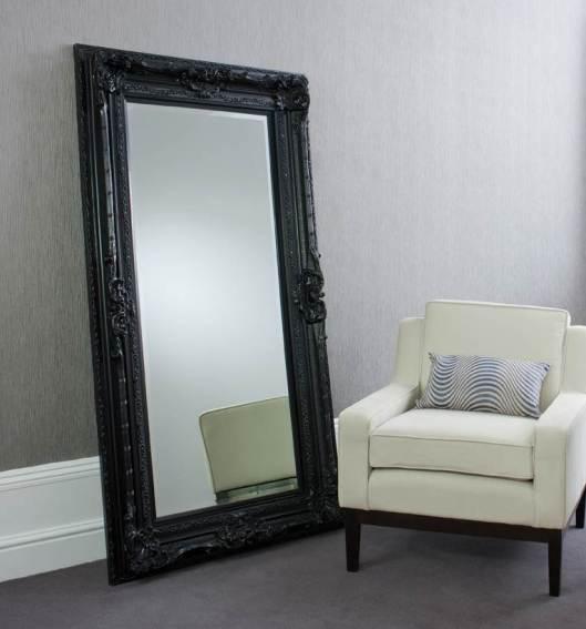 Louis Black Leaner Mirror from Alexander & Pearl