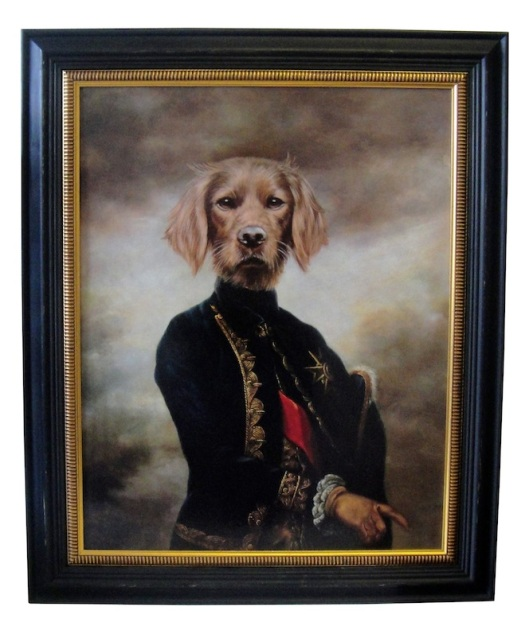 """The Marquis"" Large Framed Dog Portrait from Alexander & Pearl"