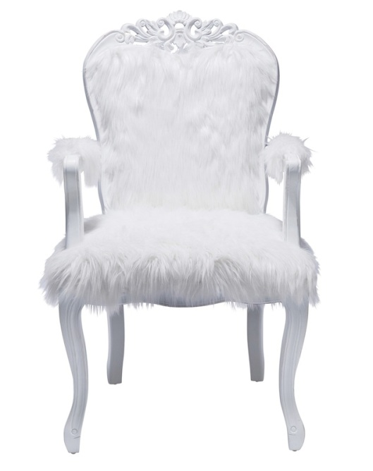 The Yetti - White Fur Armchair from Alexander & Pearl