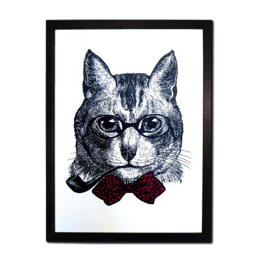 Sophisticated Cat by Chase and Wonder