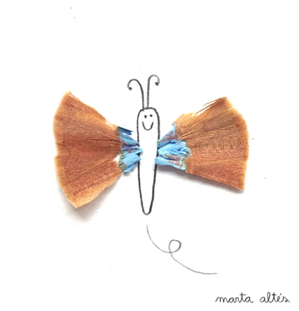 Playing with Pencil Shavings 'Fly' by Marta Altés