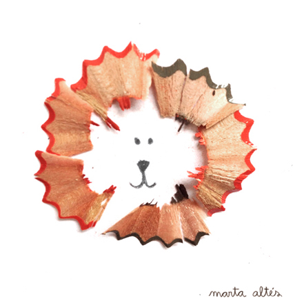 Playing with Pencil Shavings 'Grrrr!' by Marta Altés