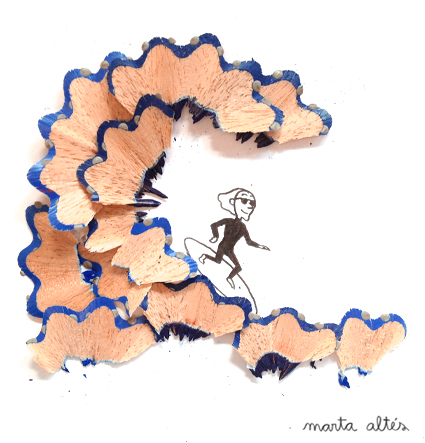 Pencil Shavings 'Wave' by Marta Altes