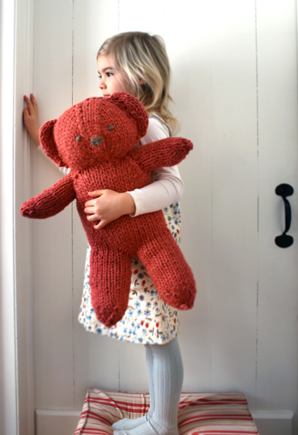 Purl Bee Big Red Bobbi Bear from Colourful Crafting with Jen