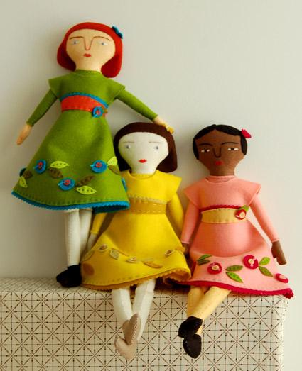 Purl Bee Hand Sewn Felt Dolls by Mimi Kirchner