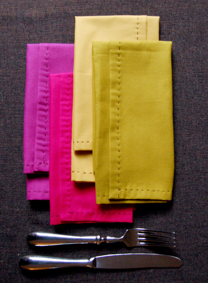 Purl Bee Hand-stitched Napkins from Molly's Sketchbook