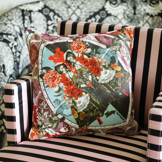 Gemini Grenat Cushion by Christan Lacroix at Designers Guild