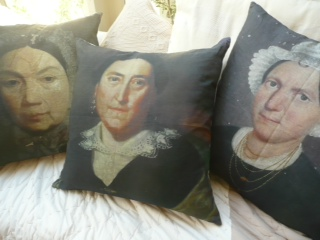 French Portrait Cushions from Le Grenier