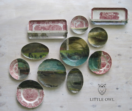 Waterland Plate Decoupage by Little Owl Design for Terrain