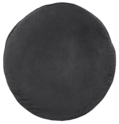 Charcoal Velvet Penny Round Cushion
