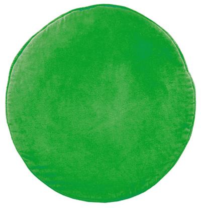 Green Velvet Penny Round Cushion