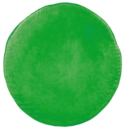 Green Velvet Penny Round Cushion