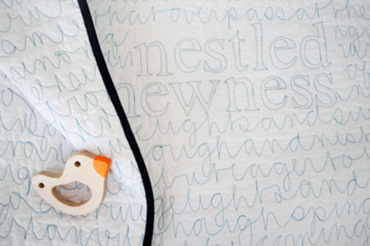 'Nestled Newness' Quilt by Comma Workshop