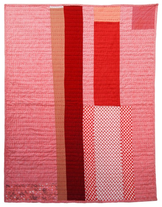 Colorado Quilt by Folk FibersVintage wool, linen, and cotton fabrics arranged in a strip quilt format.  (Image from Folk Fibers)