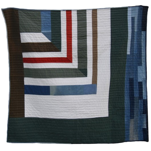 Miter Strip Quilt(Imafe from Folk Fibers)