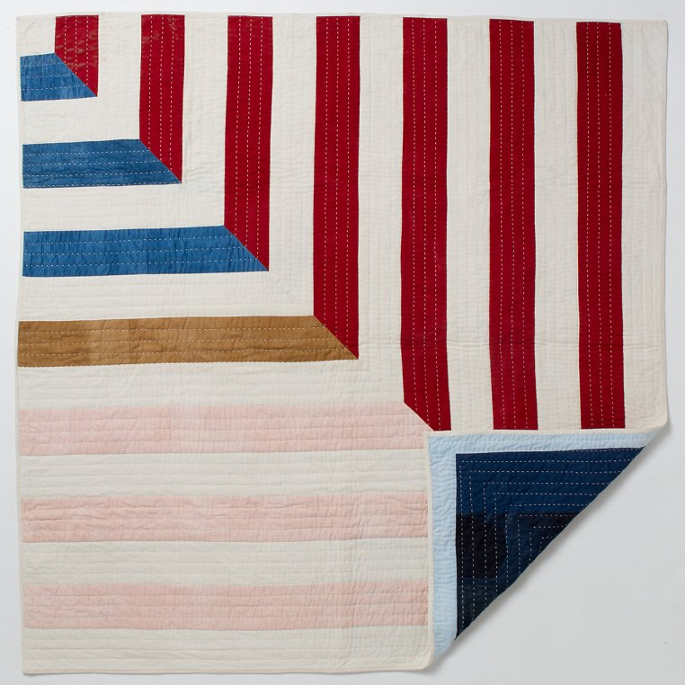 Miter Stripes Quilt by Maura Ambrose at Folk Fibers