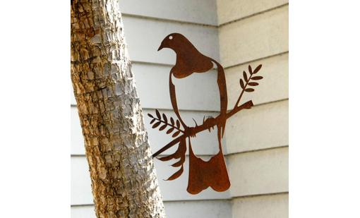 'Kereru (Wood Pigeon)' Metal Bird by Phil Walters for Silo Design