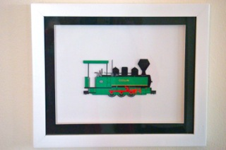 Framed Cane Train