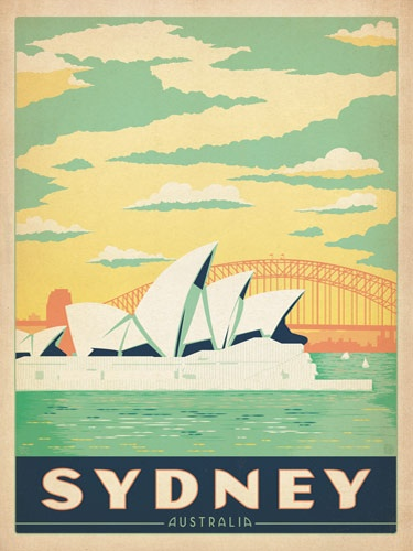 Sydney Travel Poster(Source Unknown)