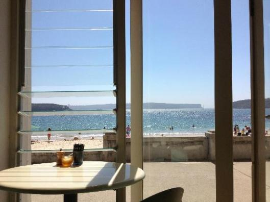 View from Bathers Pavillion Cafe