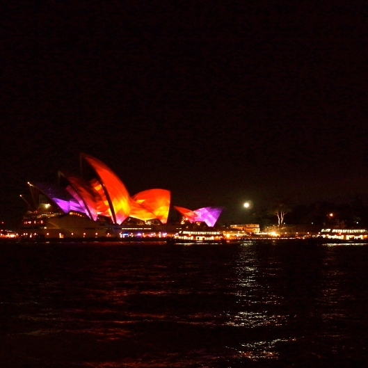 The Sydney Opera House Lights Up