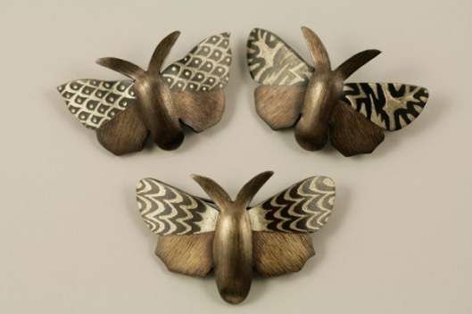Moth Brooches by Lisa West