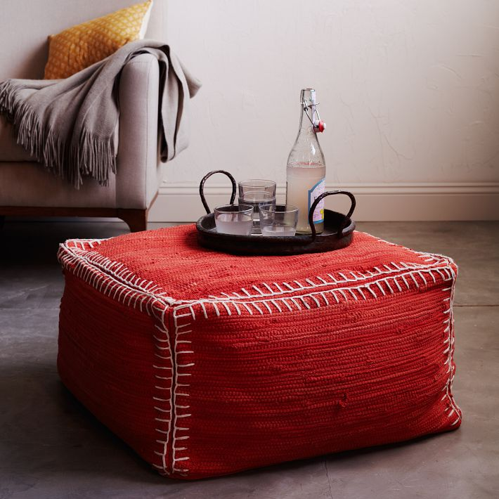 Rag Rug Stool: The Americans Are Coming…
