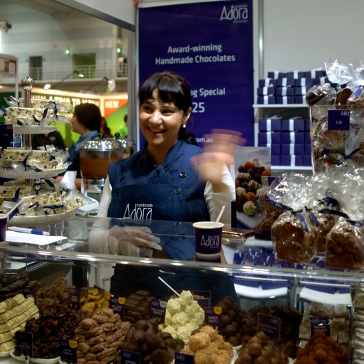 The lovely lady at Adora Chocolate