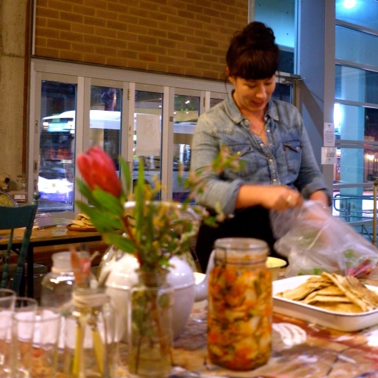 Kate prepares nibbles... (Image by TSL)