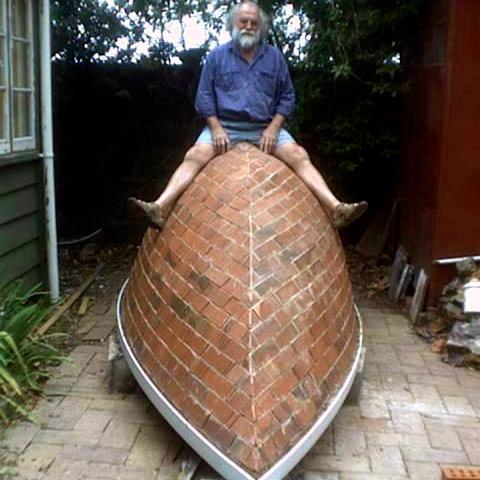 Peter Lange's Brick Boat