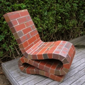 Peter Lange's Brick Wiggle Chair (Image from Masterworks Gallery)