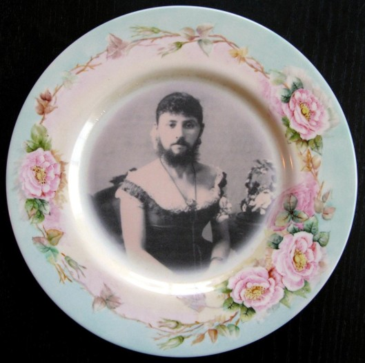 Bearded Woman Plate
