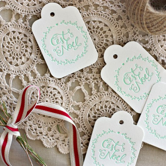 Bespoke Letterpress Gift Tag and Ribbon