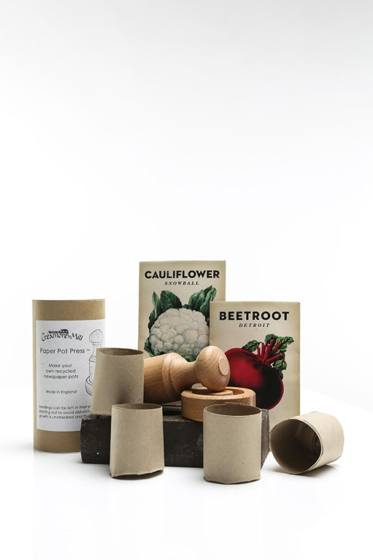 Paper Potter Kit With Heirloom Seed Packs