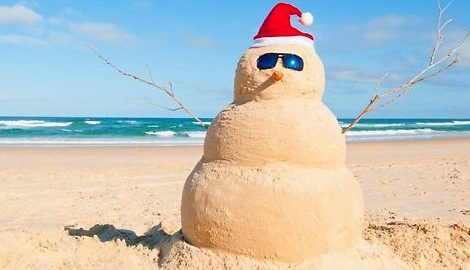 Beach Snow Man